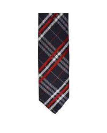 LA Smith Red Skinny Tartan Tie - Accessories
