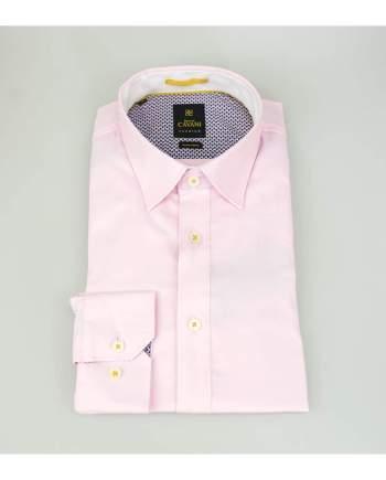 Mens Pink Oxford Stretch Shirt by Cavani - UK 14.5 | EU 37 - Shirts