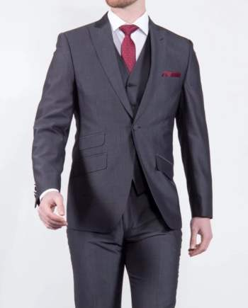 Torre Charcoal Mohair Tailored fit Jacket - 36S - Suit & Tailoring
