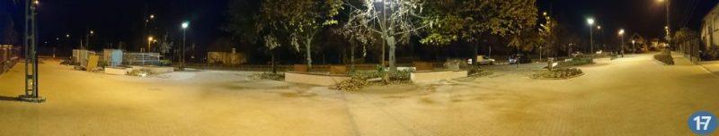 Rákoskert főtere éjjel