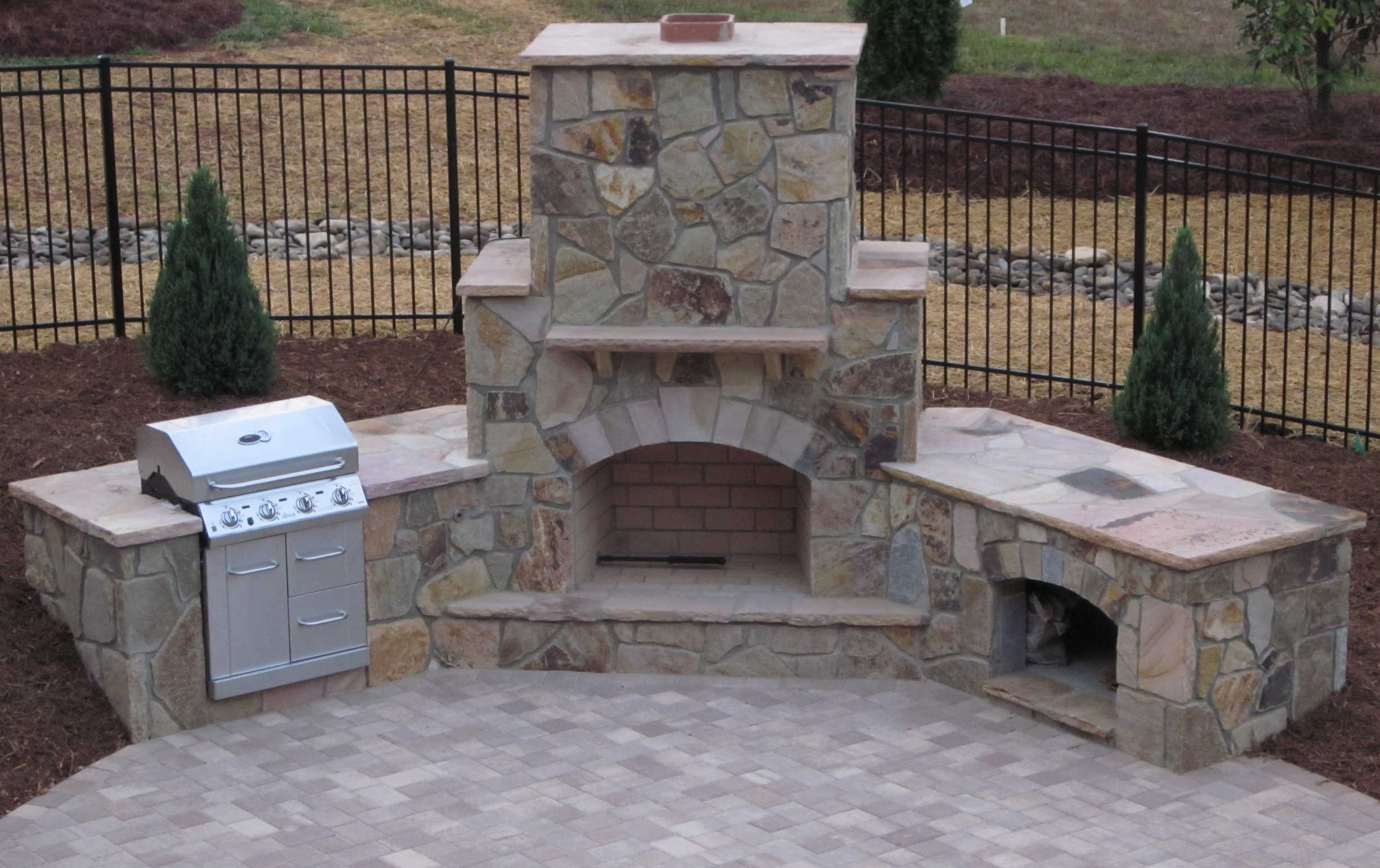Outdoor Fireplace Designs Plans Outdoor Kitchen Plans Outdoor