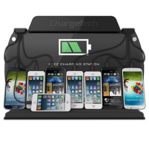 Wall Mounted Cell Phone Charging Station w-8 Universal Charging Tips
