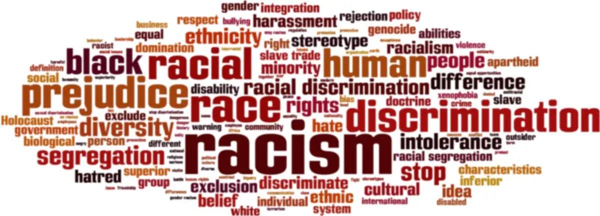 Racismwordcloudconcept