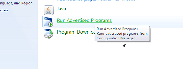 Run Advertised Programs