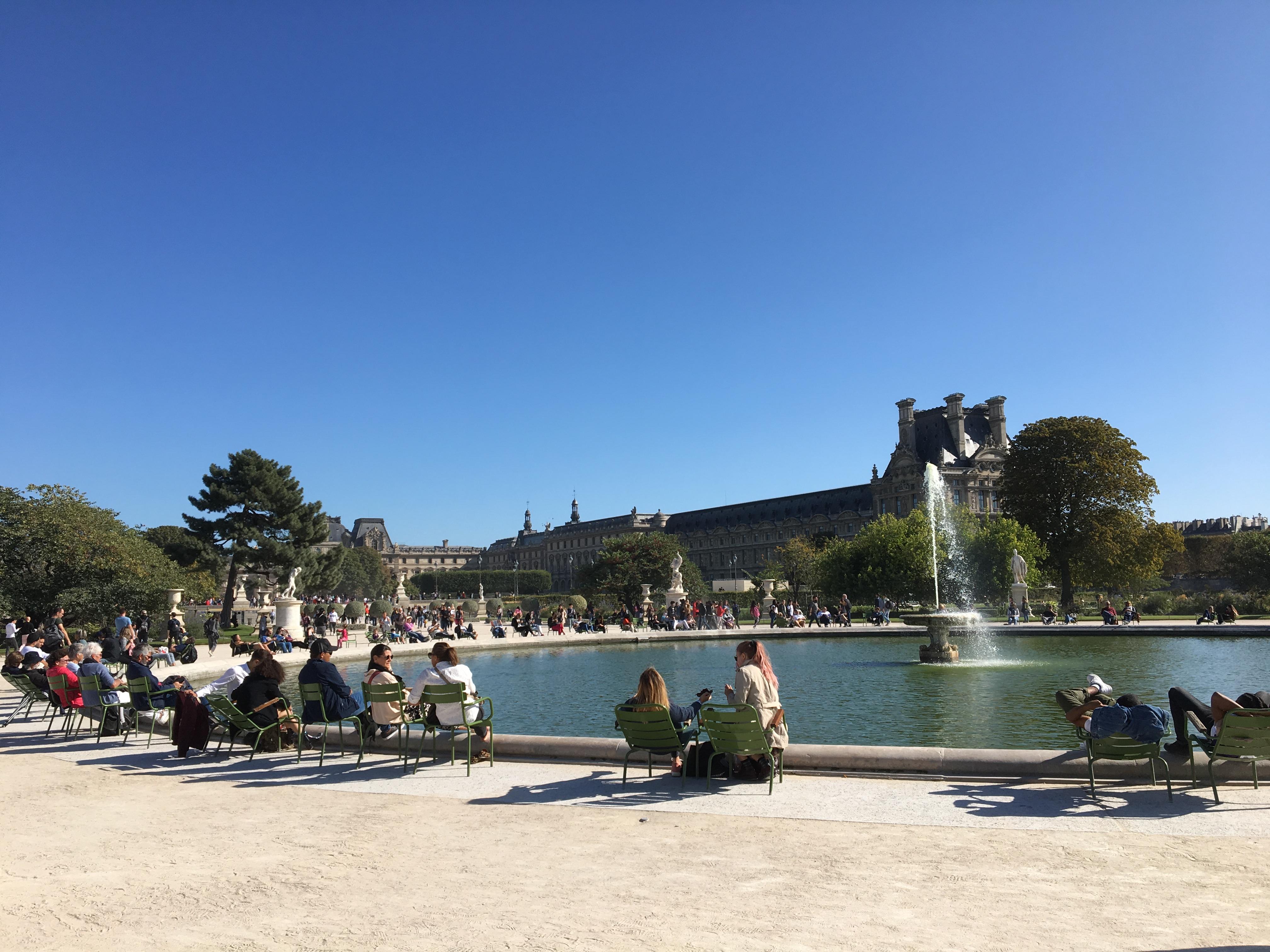 パリ、秋のチュイルリー公園を散策