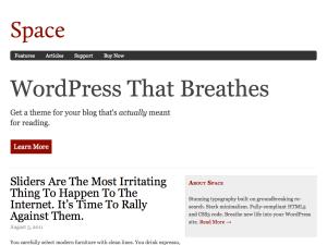 Minimalist WordPress Theme — Space