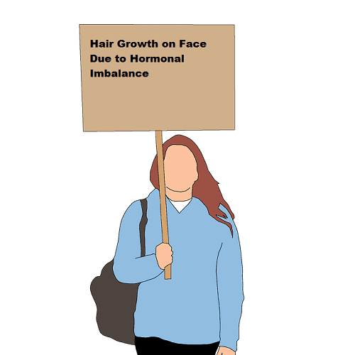 Hair Growth on Face Due to Hormonal Imbalance