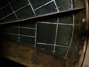 Air heater basket after