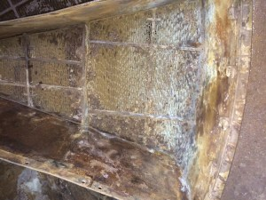 Air heater basket before