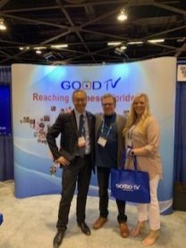 Steven from Good TV with Ted & Hazel of HisAir.Net... Good TV reaches a potential 1 billion people in China.