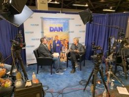 David White doing an interview about his new movie Malibu Dan