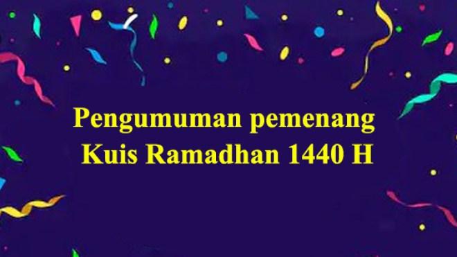 Pengumuman Pemenang Kuis Ramadhan 1440 H