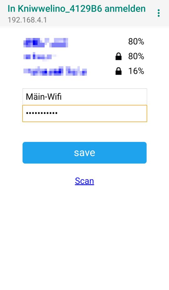 Konfiguratiouns Portal vum Kniwwelino fir Wifi anzeriichten