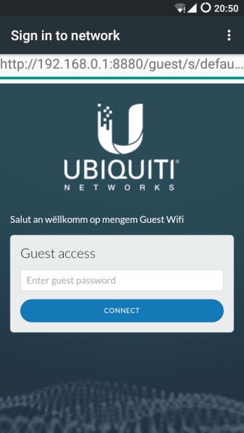 The Guest Portal on a Smartphone