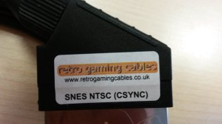 Super Famicom RGB Cable bought at retrogamingcables.co.uk - Closeup View