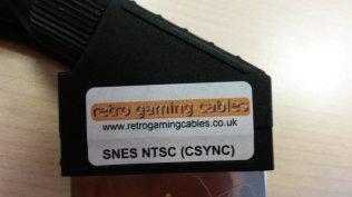 Super Famicom RGB Cable bought at retrogamingcables.co.uk - Closeup View