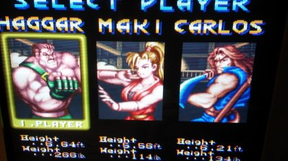 Final Fight 2 - Character Selection - RGB