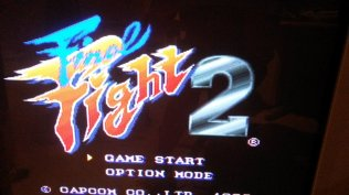 Final Fight 2 - Title Screen - Composite