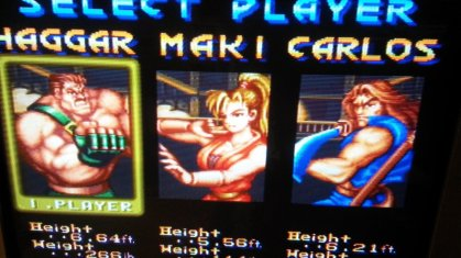 Final Fight 2 - Character Selection - Composite