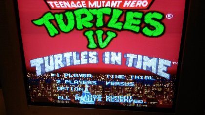 TMNT IV - Turtles in Time - Title Screen - RGB