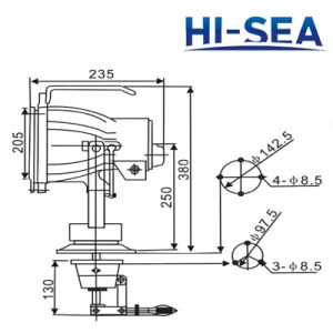 Marine Aluminum Spot Light Supplier, China Marine Spot Light Manufacturer  HiSea Marine