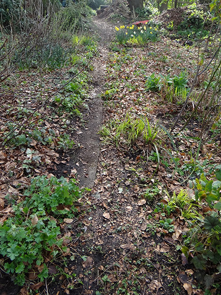 swept path on our allotment
