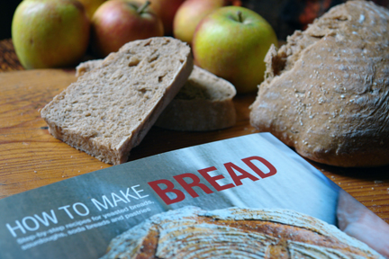 How to Make Bread book with apples and homemade, buttered bread