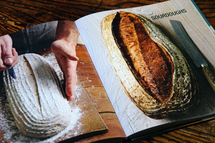 "sourdough chapter page of the ""How to Make Bread"" book"