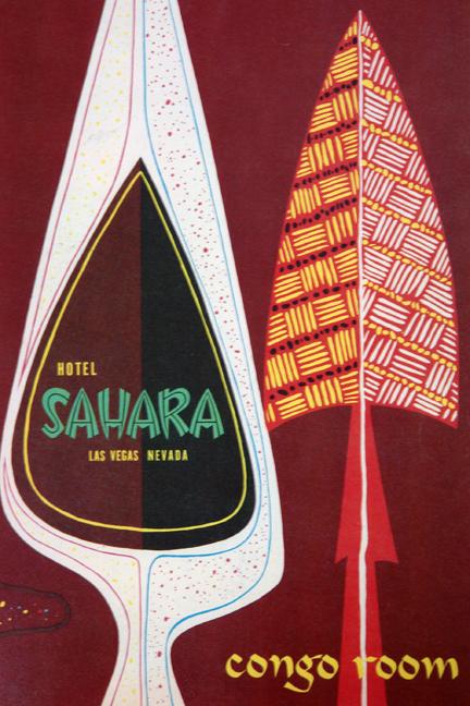 Hotel Sahara, Las Vegas 'Congo Room' menu