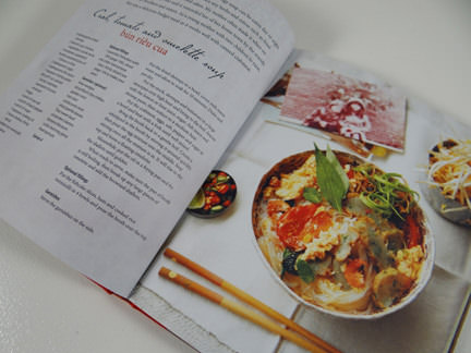 "omelette soup recipe in ""My Vietnamese Kitchen"" cookery book"