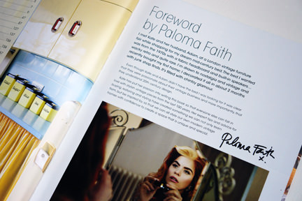 Paloma Faith into page in Style Your Modern Vintage Home
