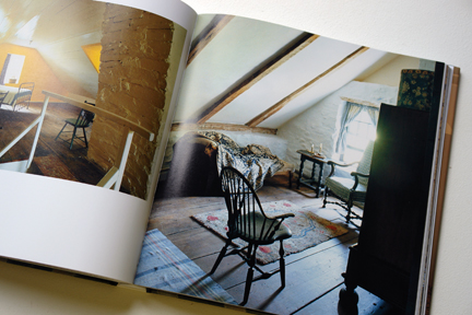 "antique Winsdor chair in a room in the eaves from ""The Way We Live In the Country"" by Stafford Cliff & Gilles de Chabaneix"