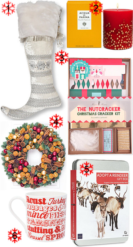 Selection of Christmas items from Selfridges