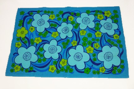 vintage flower patterned tea towel