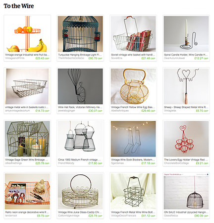 'To the Wire' Etsy List from H is for Home