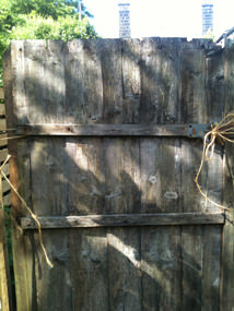 Our old rotting, tumble down garden gate