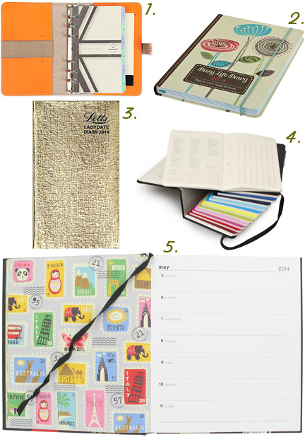 selection of 2014 diaries