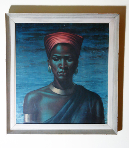 "Original vintage 1950s print of ""Zulu Girl"" by Vladimir Tretchikoff"