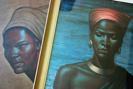 "Pair of original vintage Tretchicoff prints, ""Zulu Girl"" and ""Zulu Maiden"""
