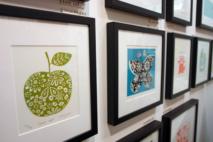 display of Ruth Green's limited edition framed prints