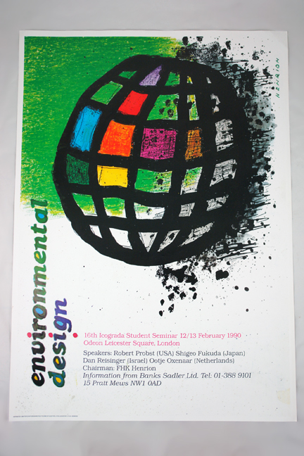 FHK Henrion 'environmental design' poster from a collection bought at auction by H is for Home