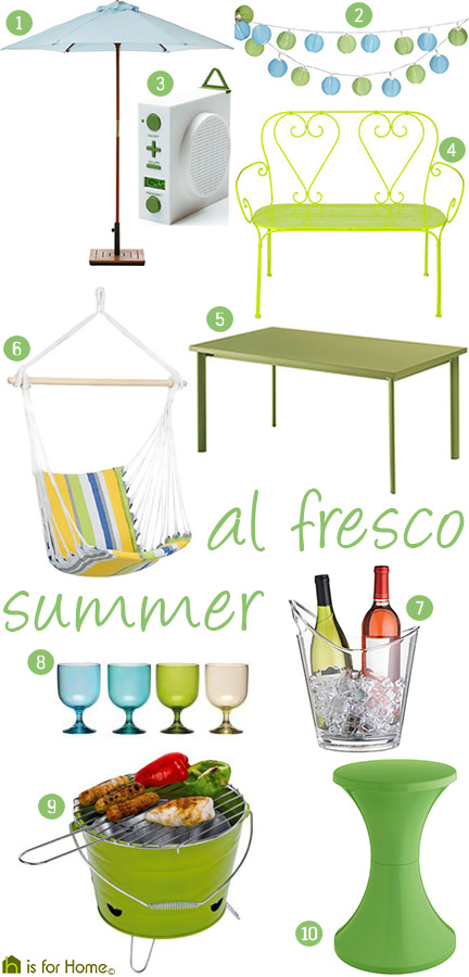 'al fresco summer' mood board