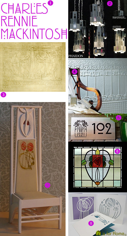 Charles Rennie Mackintosh mood board