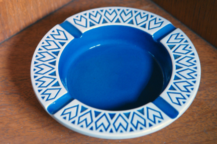 blue vintage Hornsea Pottery ashtray