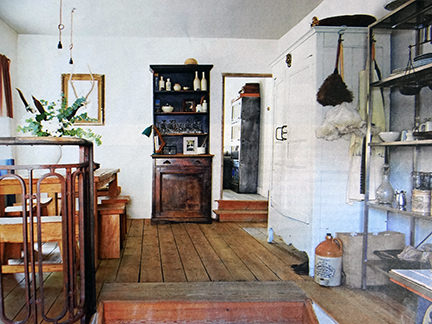 shelves and cupboards in an interior decoration article in the Telegraph Magazine
