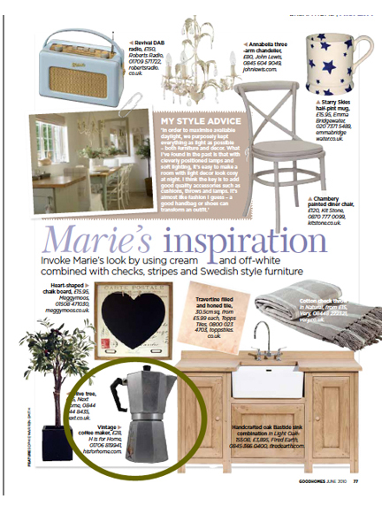 June 2010 Real Homes Magazine cutting