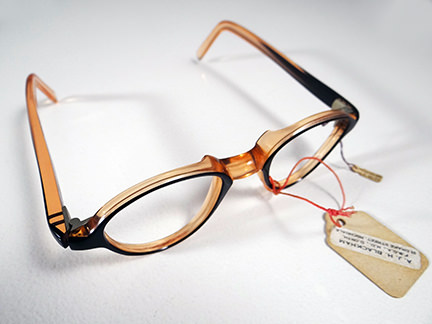 pair of vintage brown 1950s spectacle frames