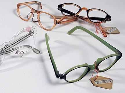 collection of vintage 1950s spectacle frames