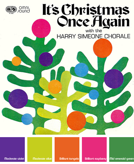 "Harry Simeone Chorale - ""It's Christmas Once Again"" album cover art work by Willie Lonardo"
