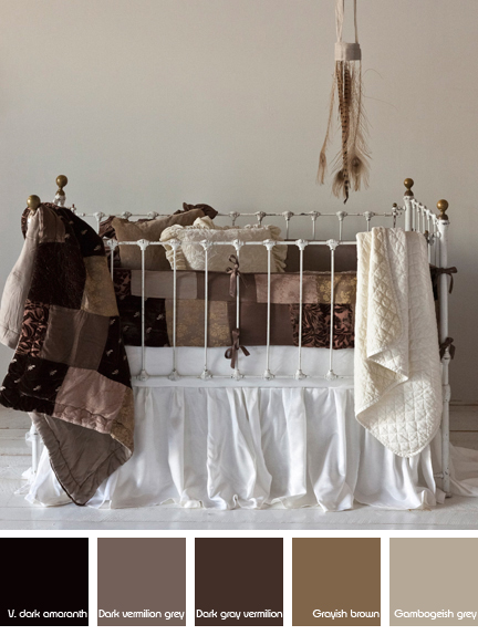 baby's cot styled with a collection of Bella Notte Linens